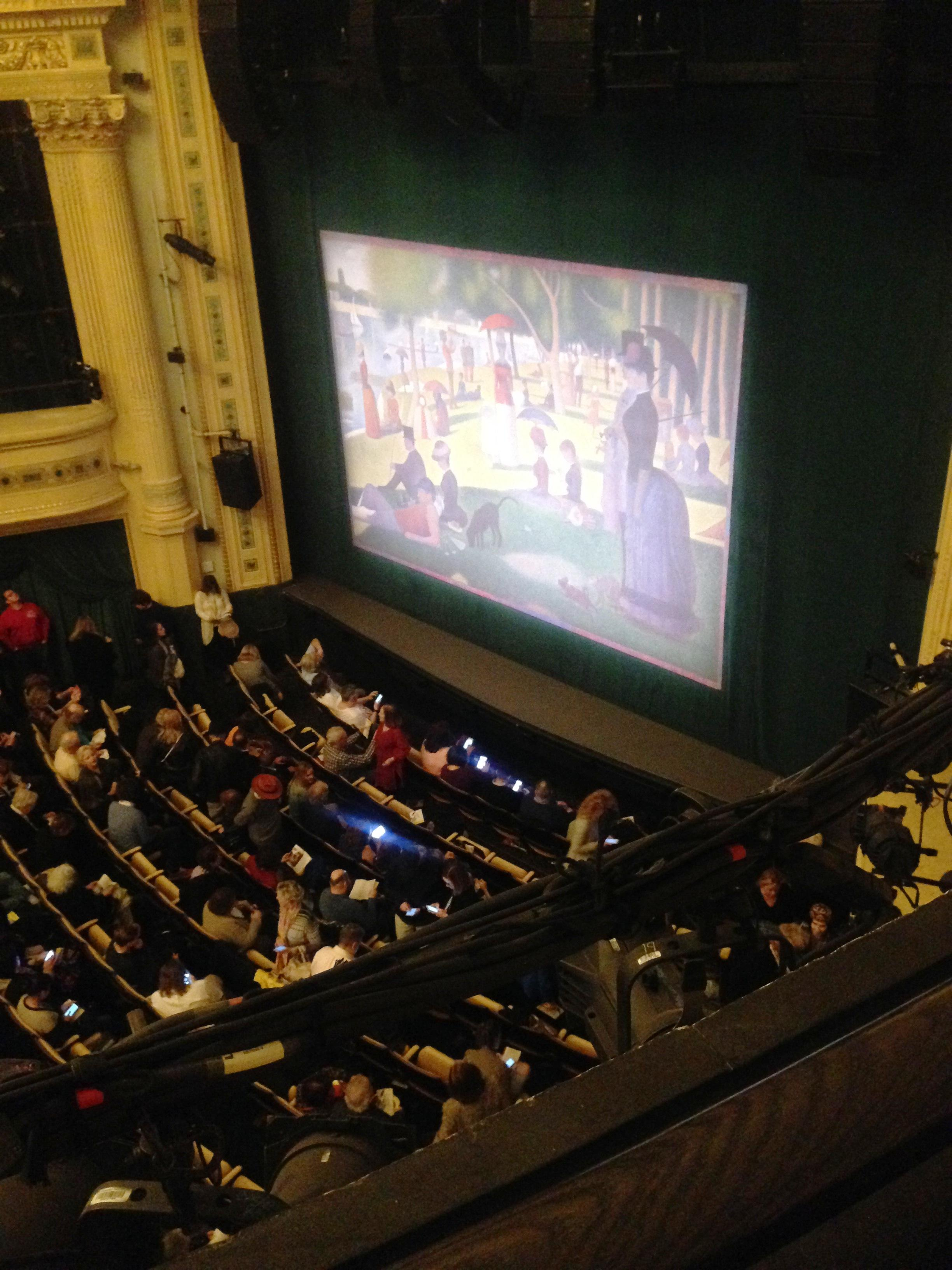 Hudson Theatre Section Balcony R Row A Seat 20
