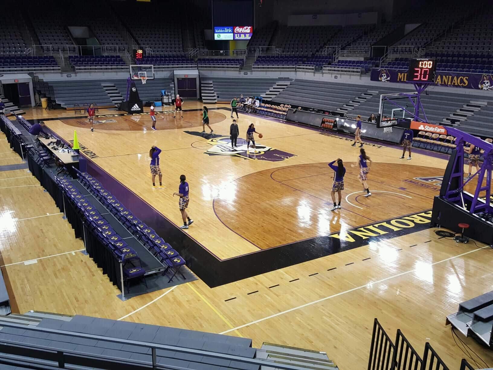 Williams Arena at Minges Coliseum Section 205 Row ADA Seat 1-8
