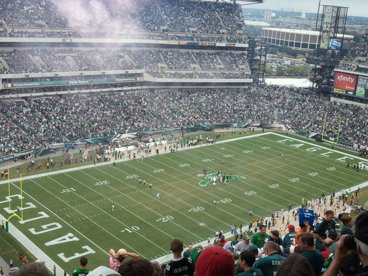 Lincoln Financial Field Section 219 Row 21 Seat 18