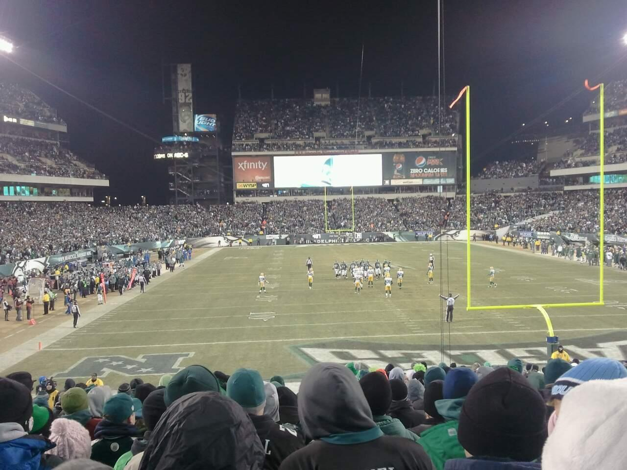 Lincoln Financial Field Section 110 Row 29 Seat 12