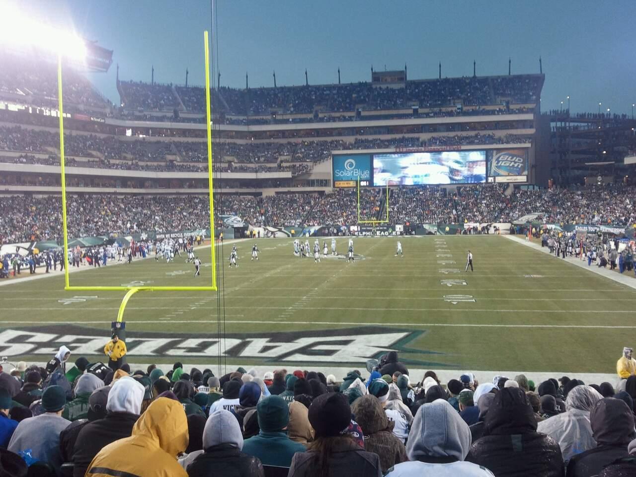 Lincoln Financial Field Section 132 Row 17 Seat 18