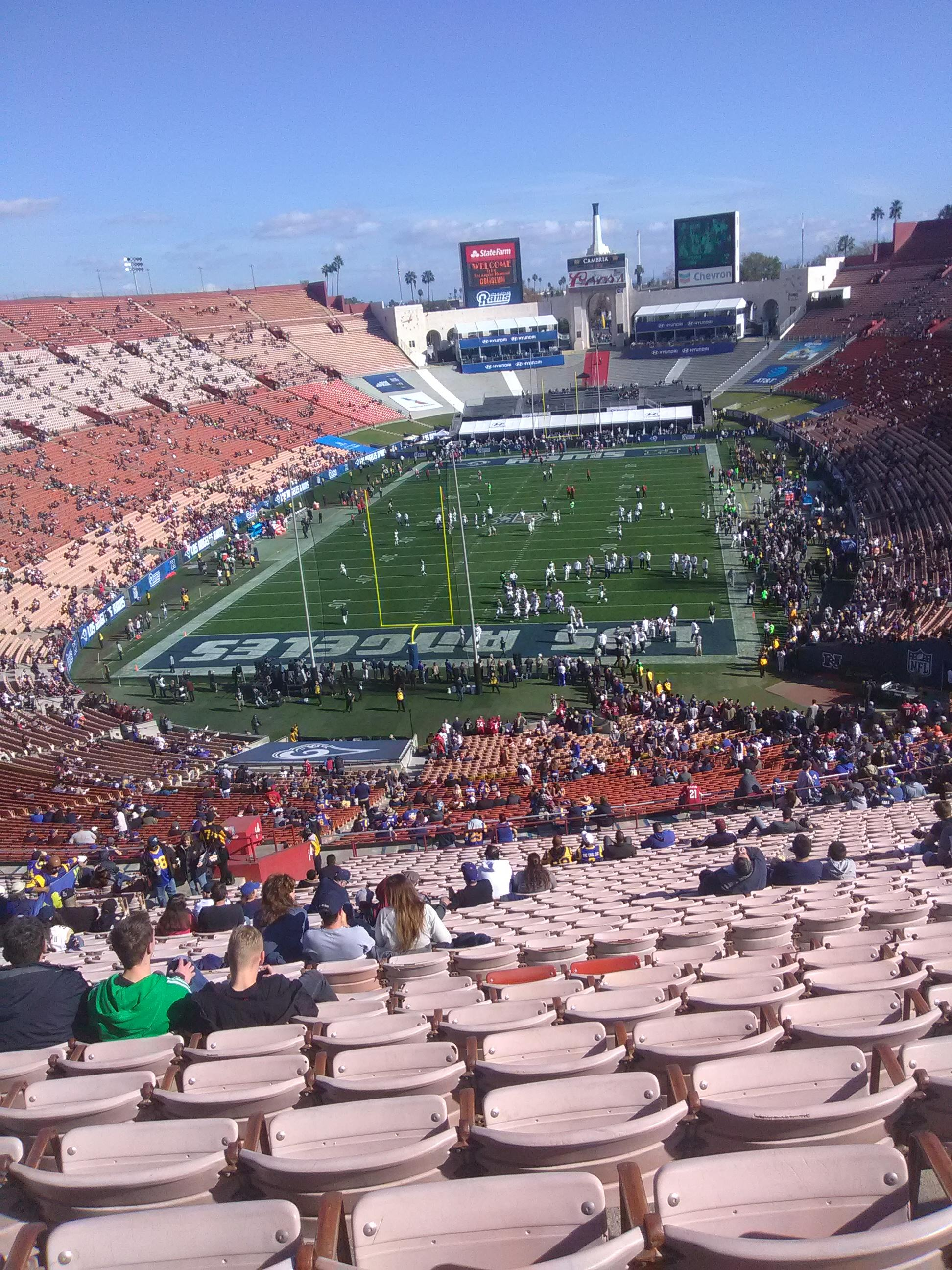 Los Angeles Memorial Coliseum Section 313 Row 8 Seat 39
