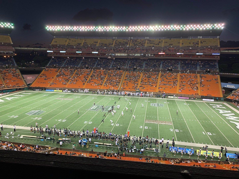 Aloha Stadium Section Mauka Brown MM Row 1 Seat 7