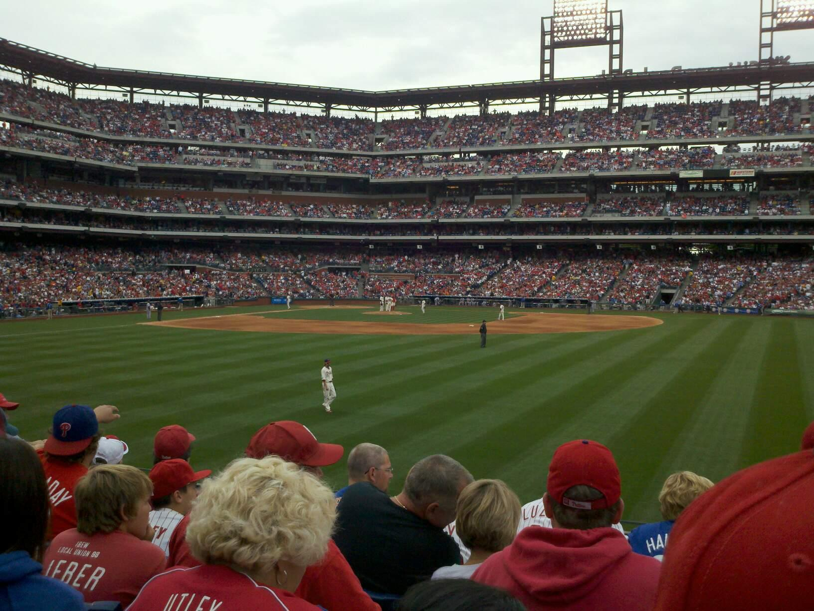 Citizens Bank Park Section 102 Row 6 Seat 10