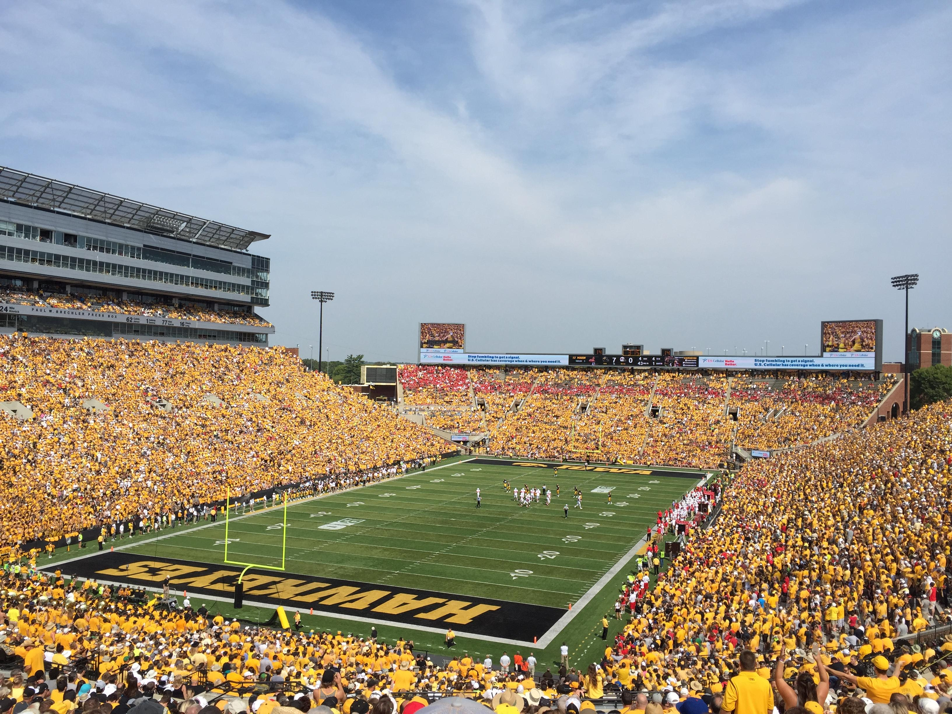 Kinnick Stadium Section 213 Row 27 Seat 4