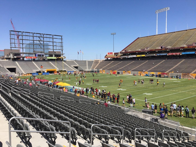 Sun Devil Stadium Section 2 Row 25 Seat 12