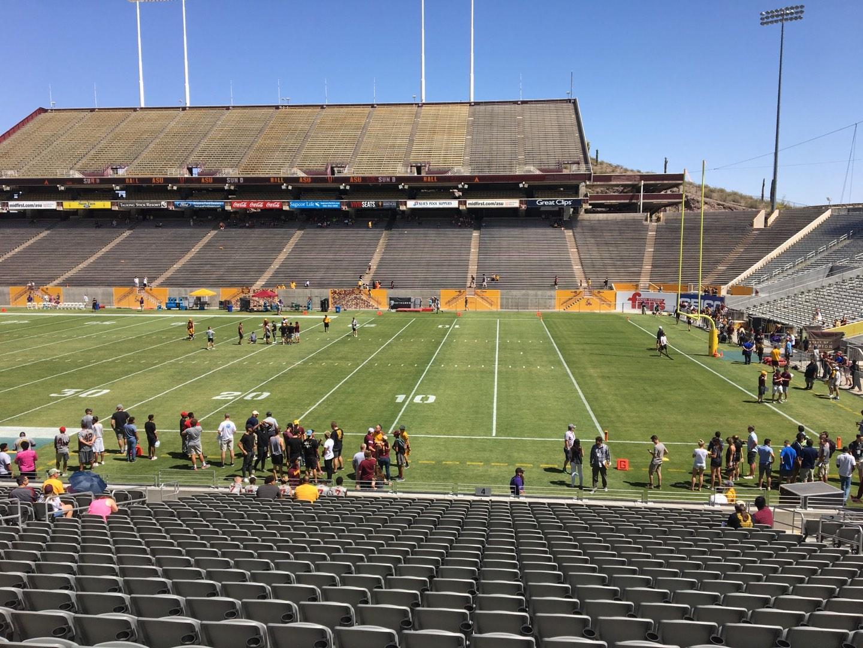 Sun Devil Stadium Section 4 Row 25 Seat 12