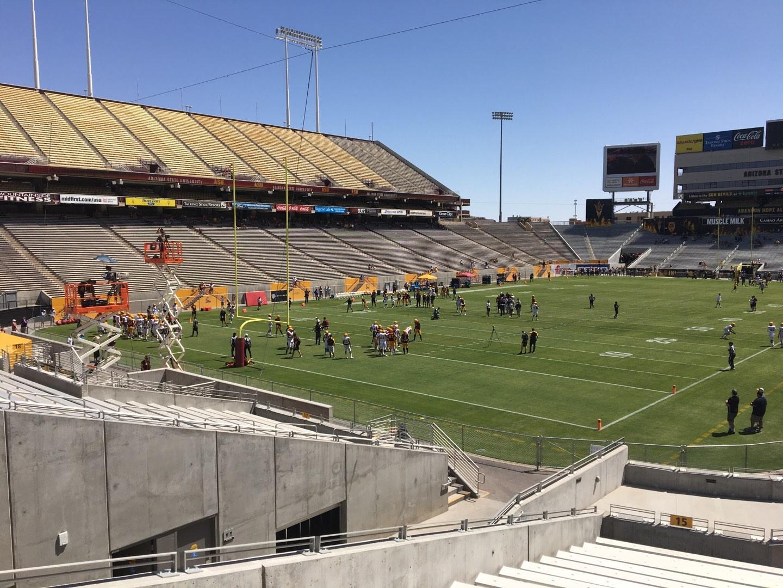 Sun Devil Stadium Section 15 Row 25 Seat 12