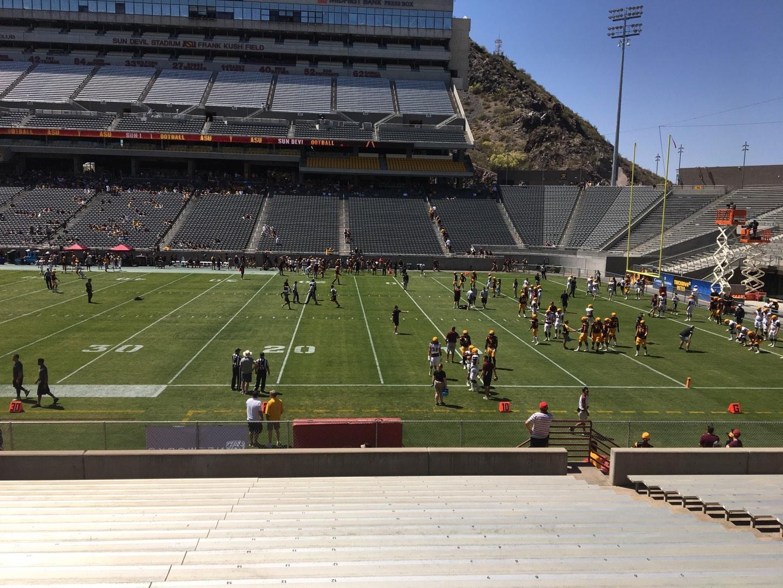 Sun Devil Stadium Section 28 Row 25 Seat 12