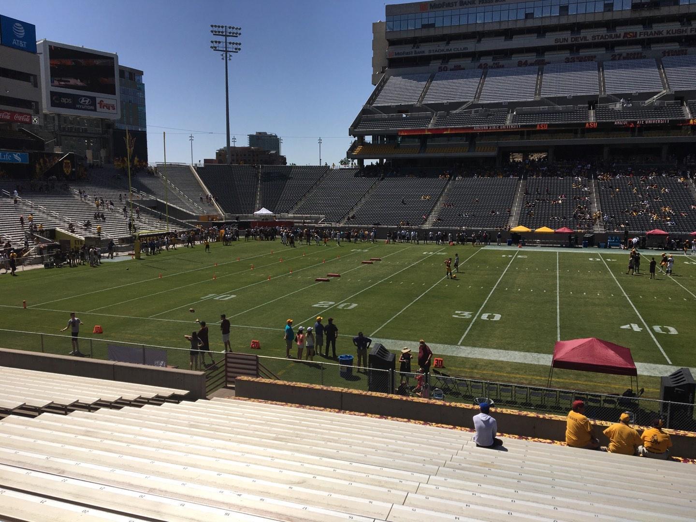 Sun Devil Stadium Section 31 Row 25 Seat 12