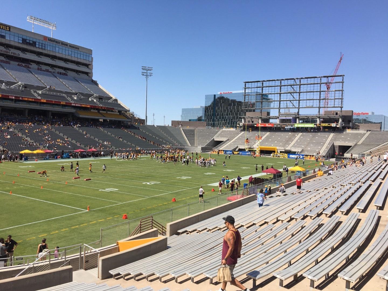 Sun Devil Stadium Section 35 Row 25 Seat 12