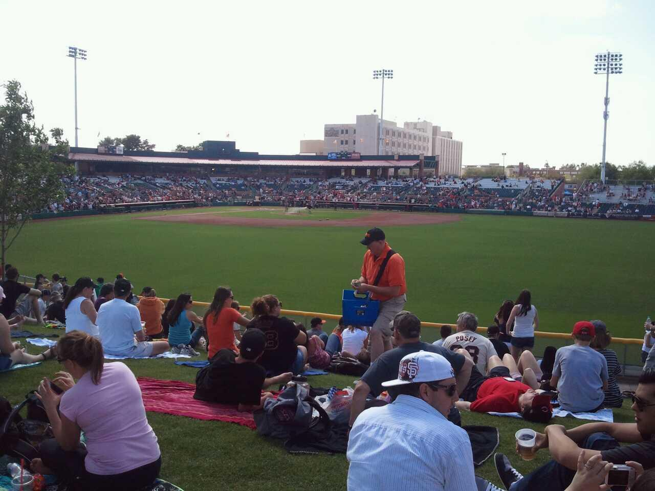 Scottsdale Stadium Section lawn