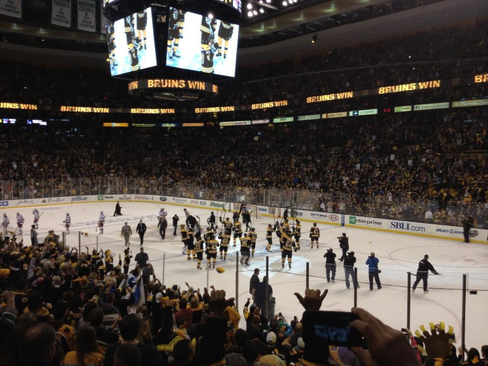 Td Garden Section Loge 20 Row 15 Seat 8 Boston Bruins Vs New York Rangers Shared By Petelanglois