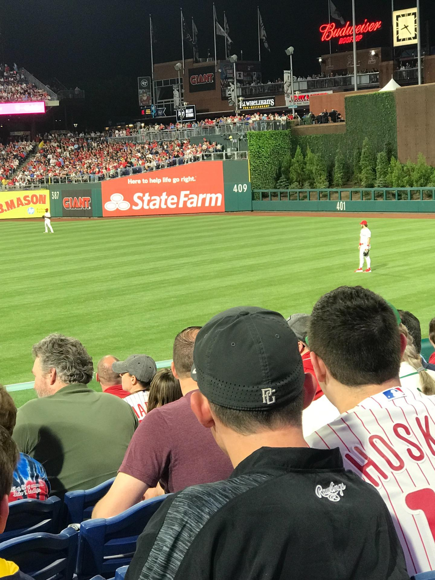 Citizens Bank Park Section 109 Row 19 Seat 12