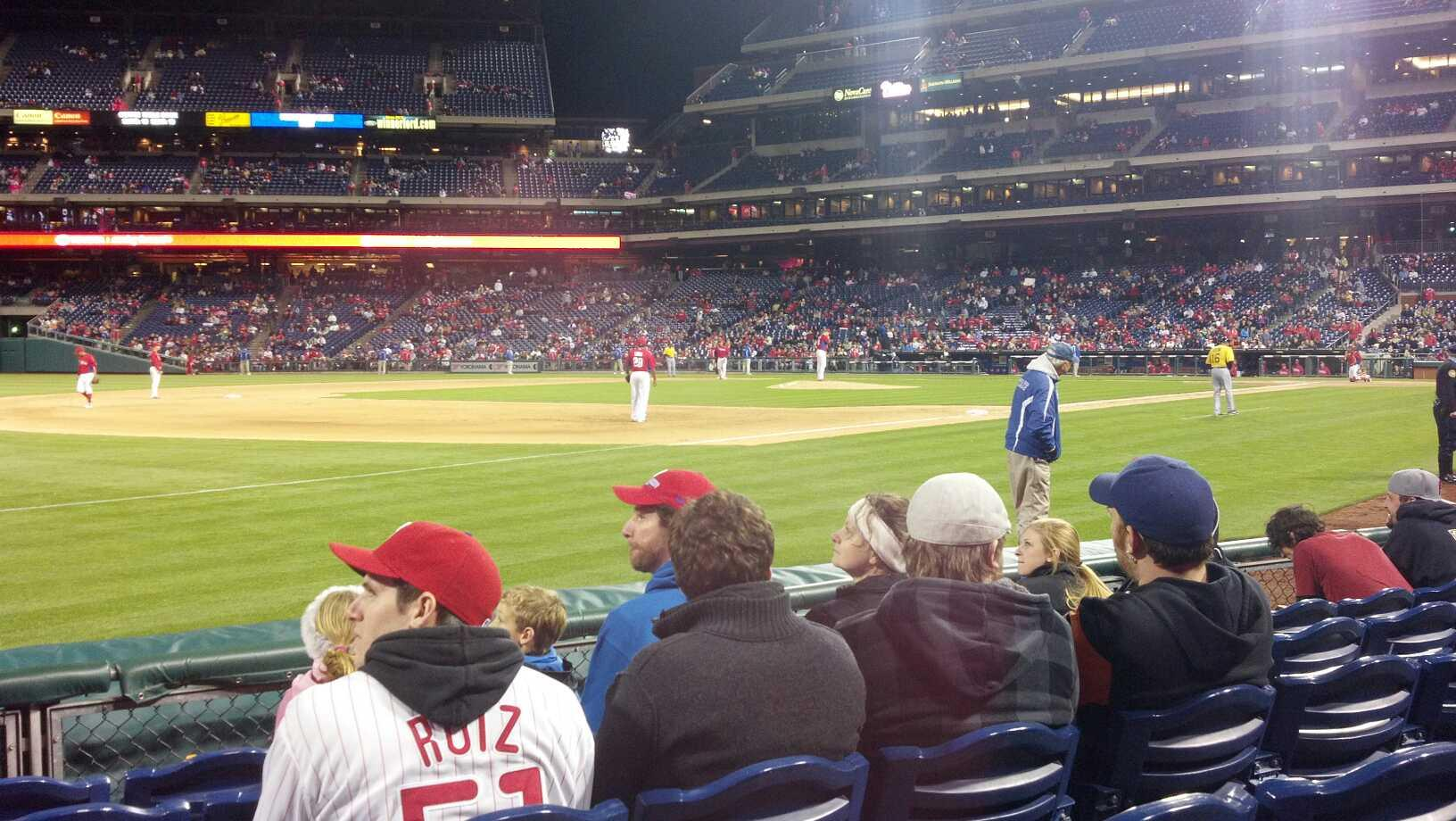 Citizens Bank Park Section 137 Row 3