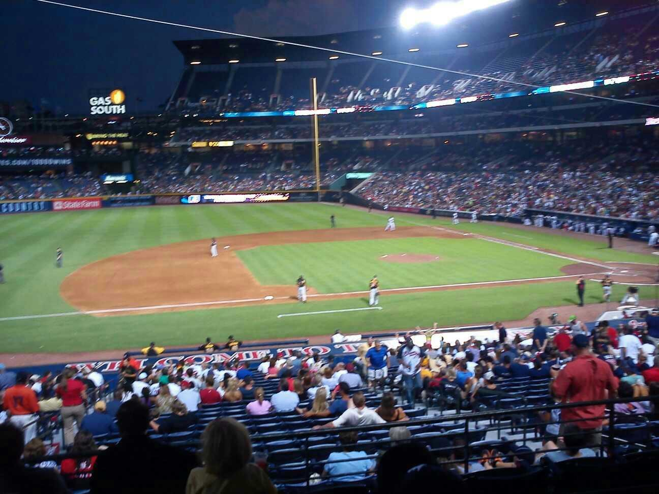 Turner Field Section 216 Row 3 Seat 3