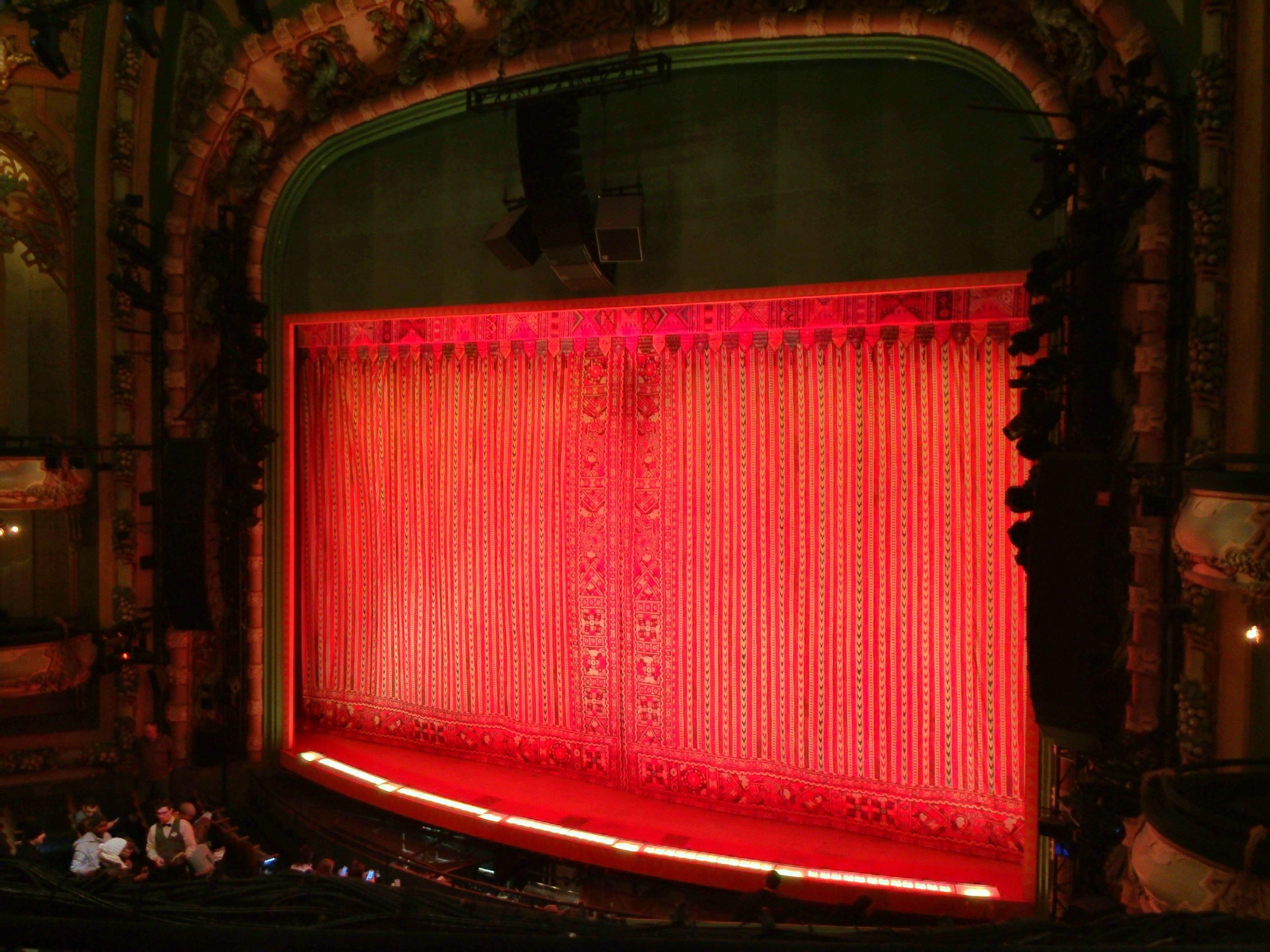New Amsterdam Theatre Section Mezzanine R Row CC Seat 14