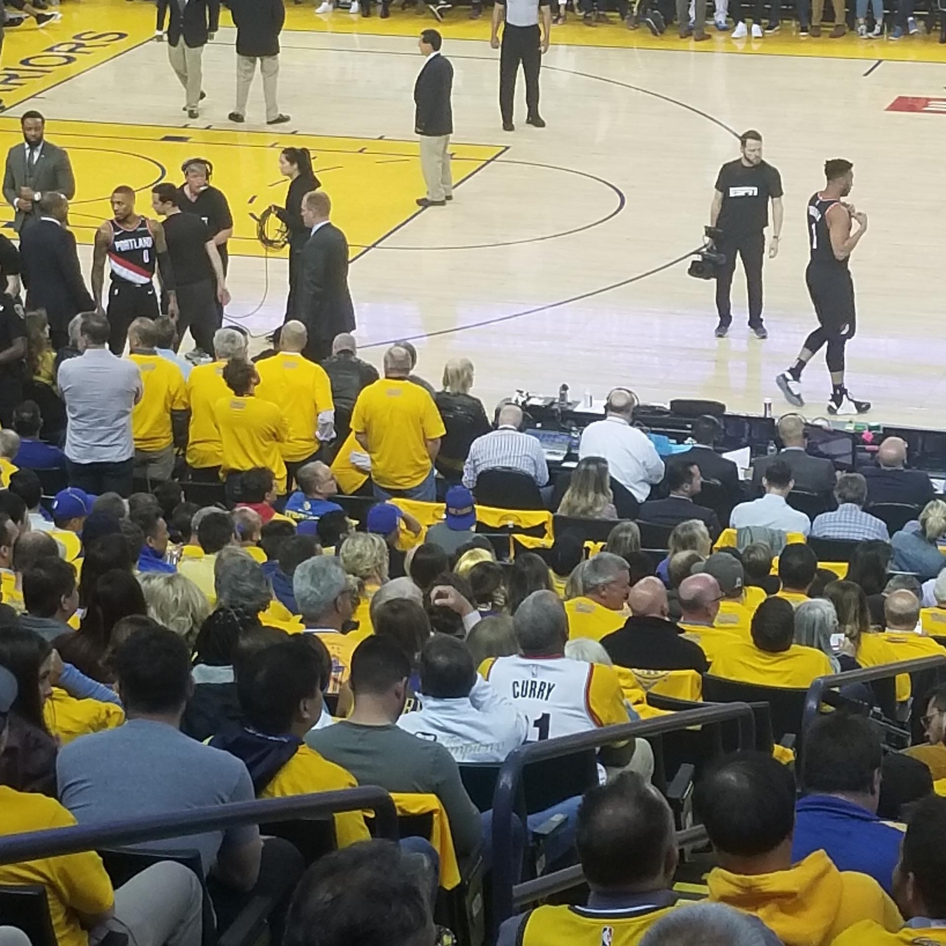 Oracle arena  Section 128 Row 12 Seat 12