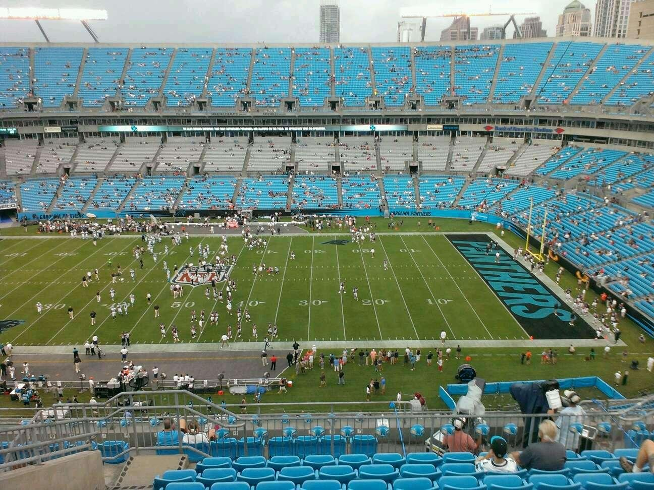 Bank of America Stadium Section 541 Row 15 Seat 20