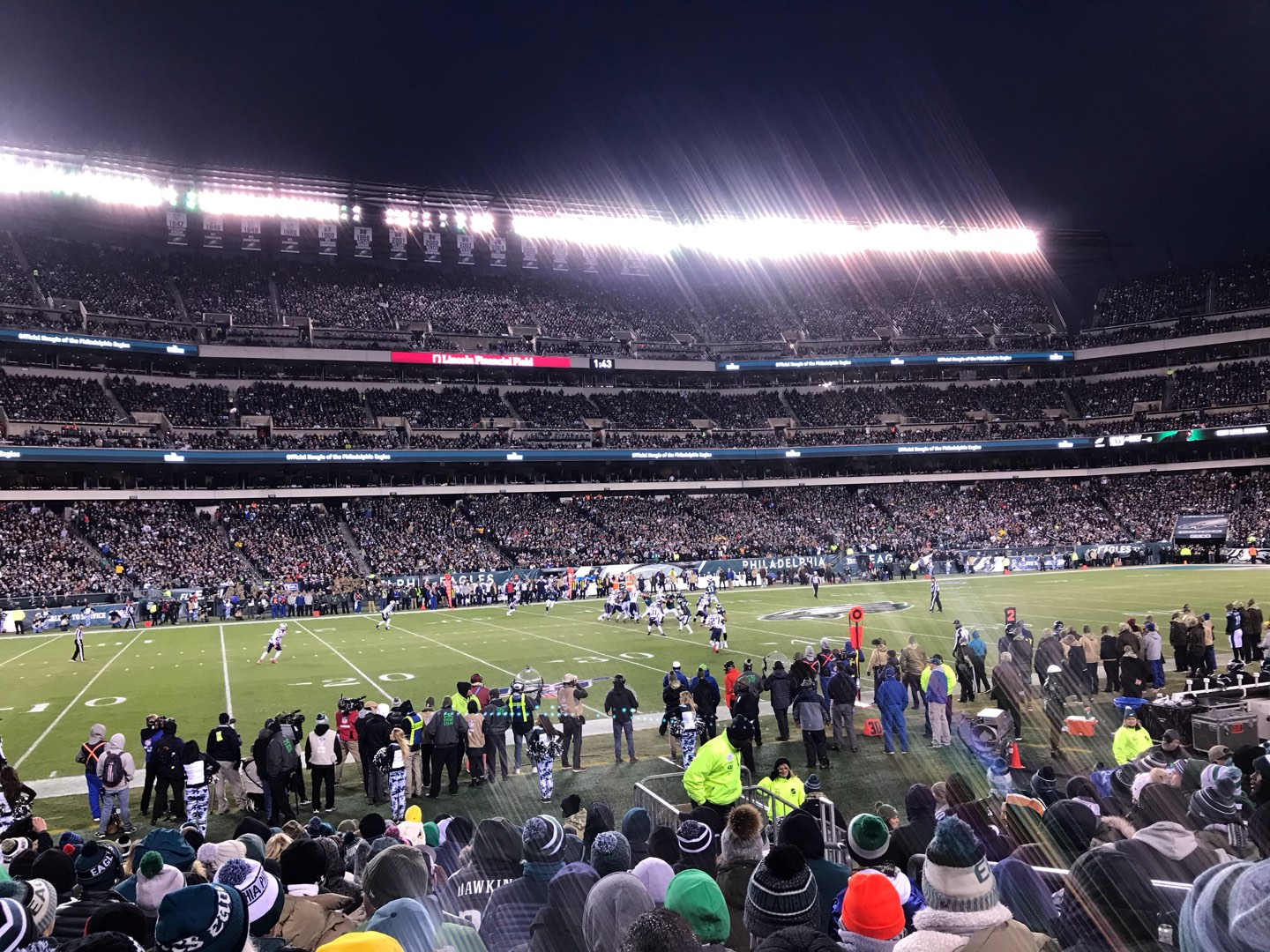 Lincoln Financial Field Section 136 Row 11 Seat 5