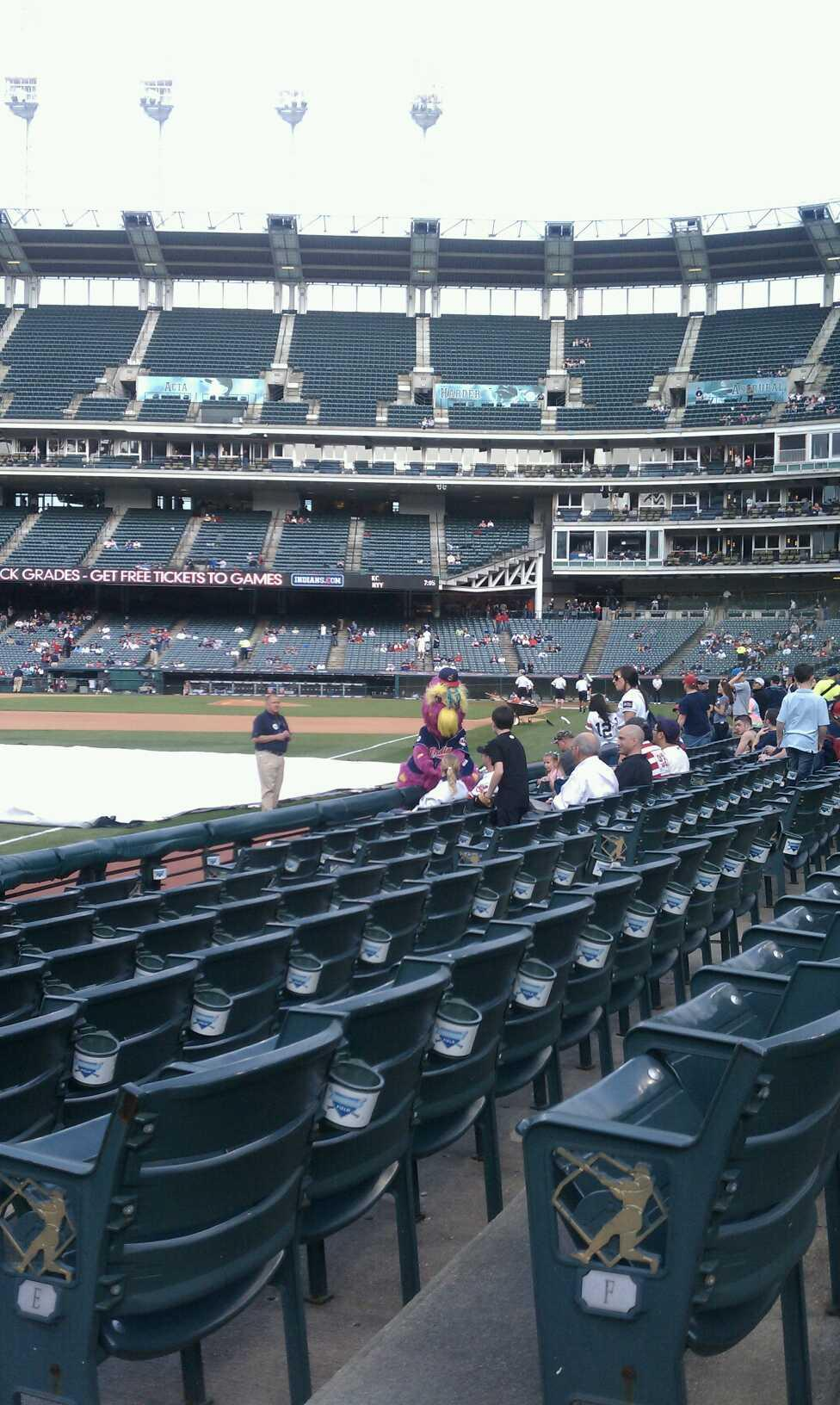 Progressive Field Section 175  Row G Seat 2
