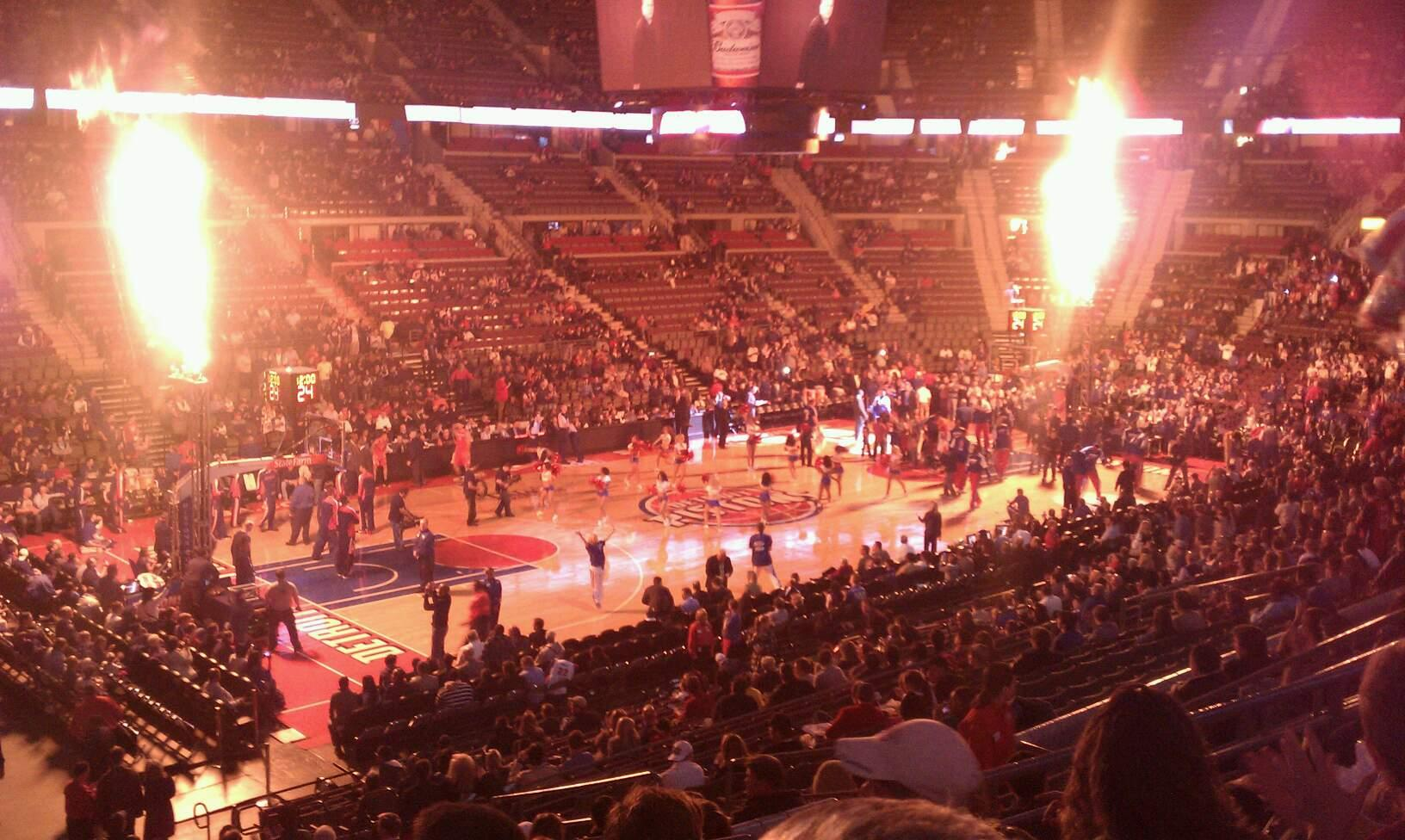 The Palace of Auburn Hills Section 103 Row n Seat 13