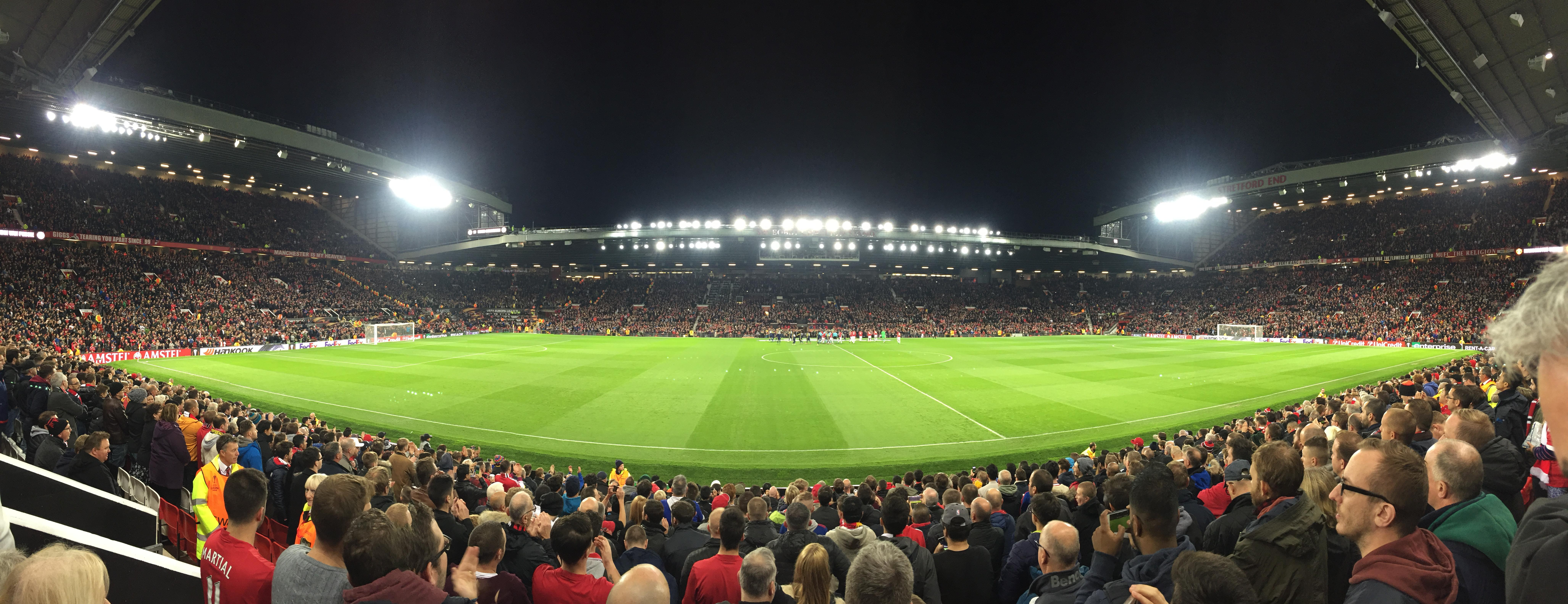 Old Trafford Section N1406 Row 1 Seat 173