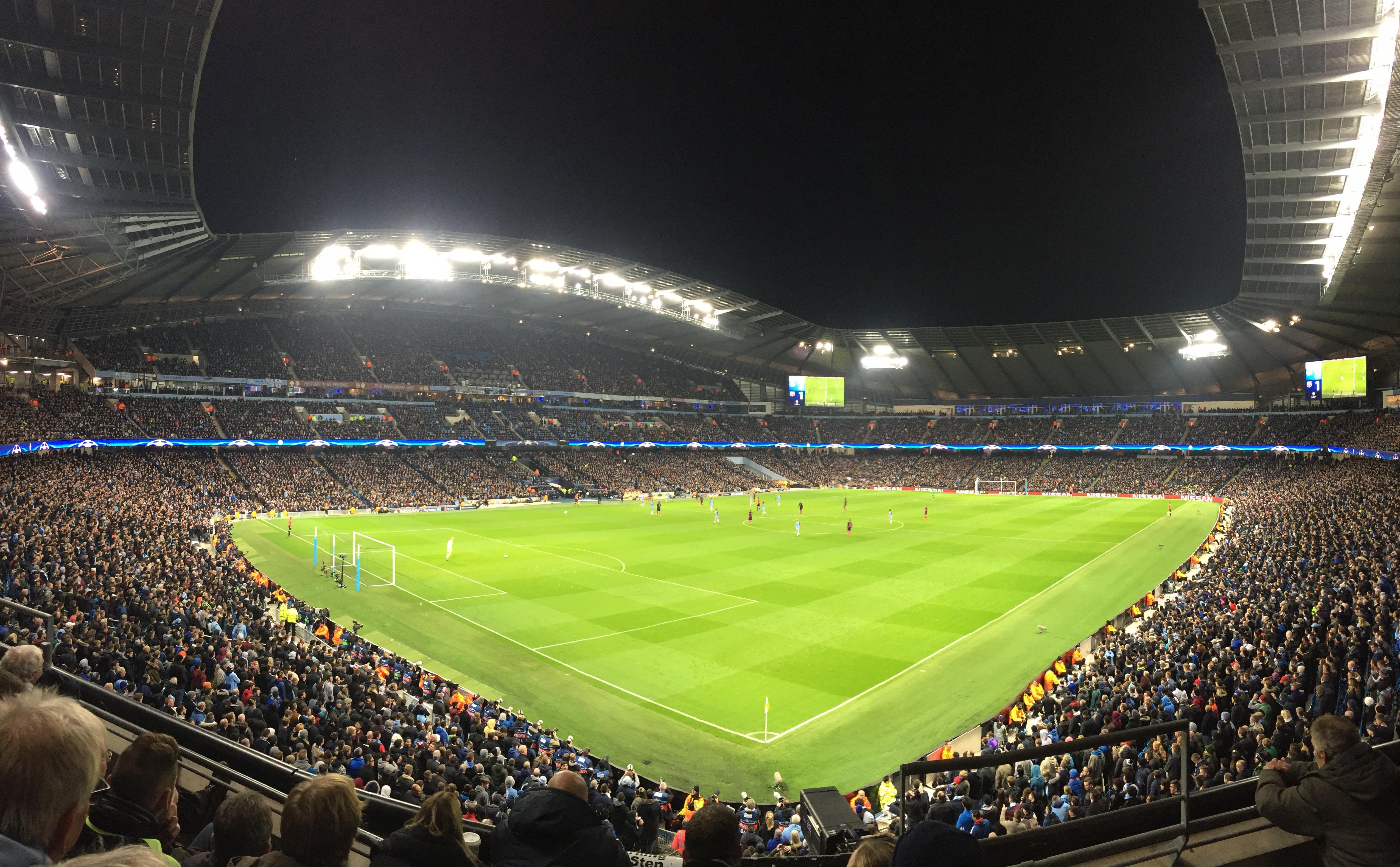 Etihad Stadium (Manchester) Section 212 Row D Seat 290