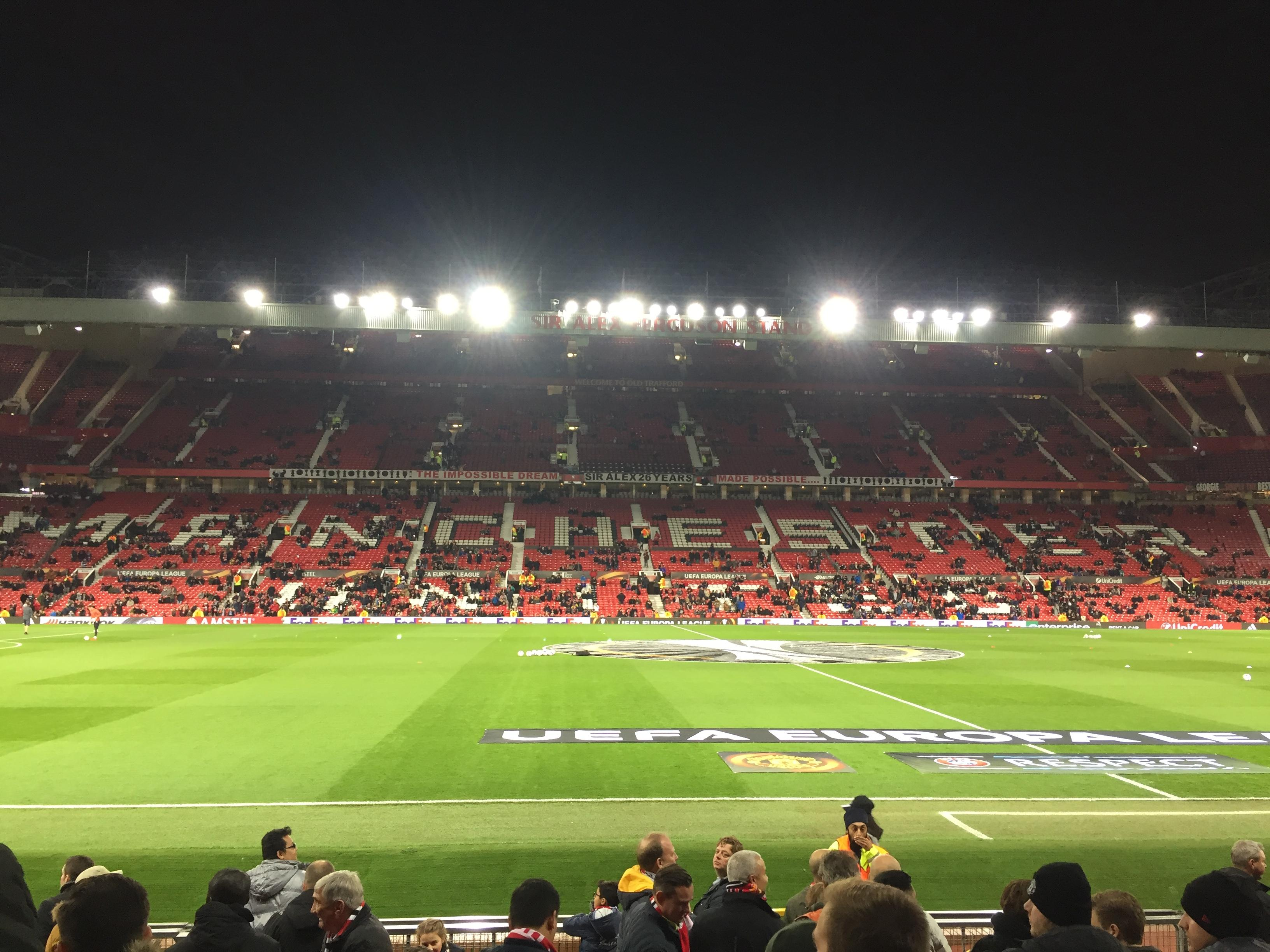 Old Trafford Section STH124 Row 2 Seat 151