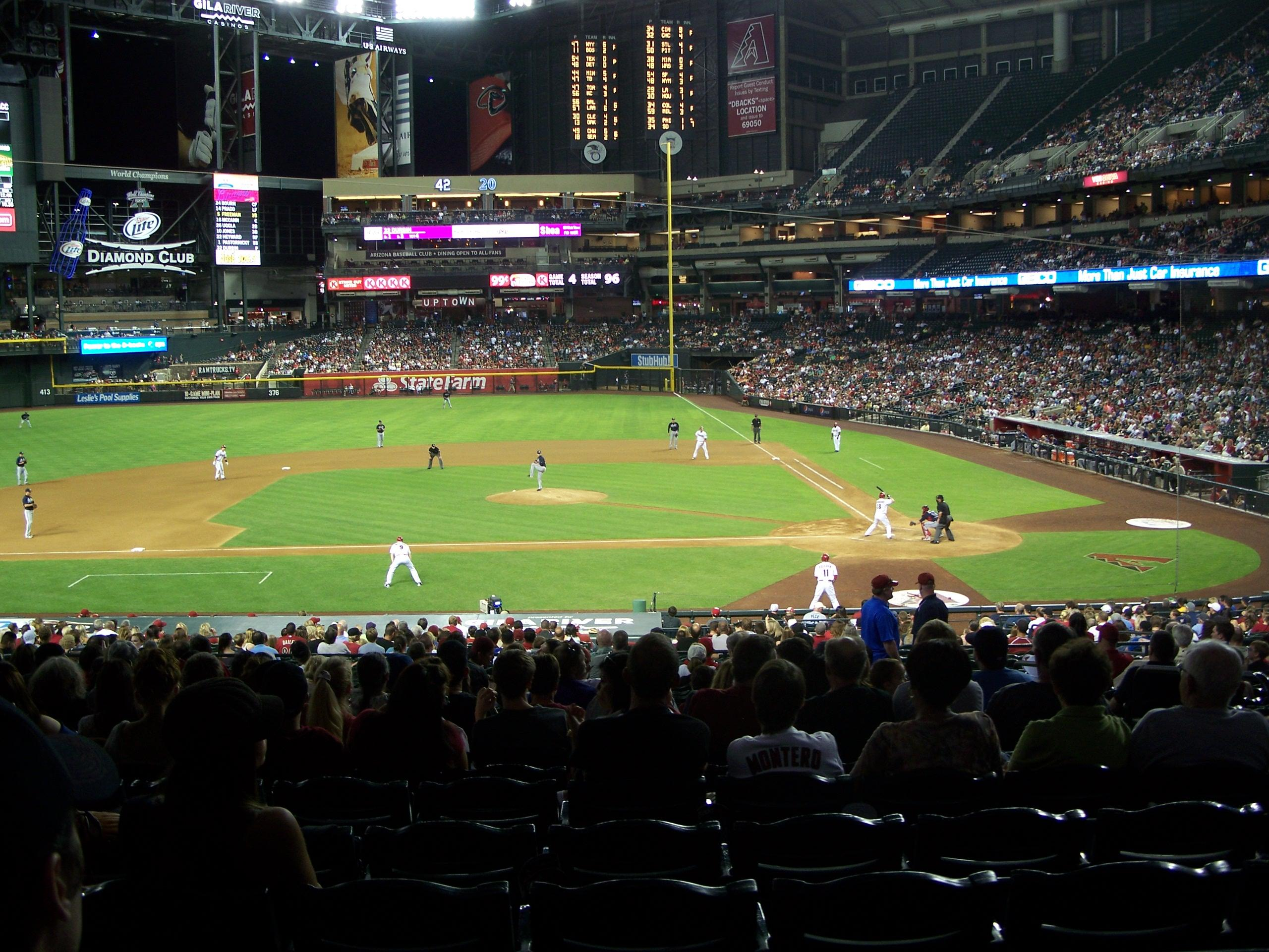 View from Section 127 at Chase Field