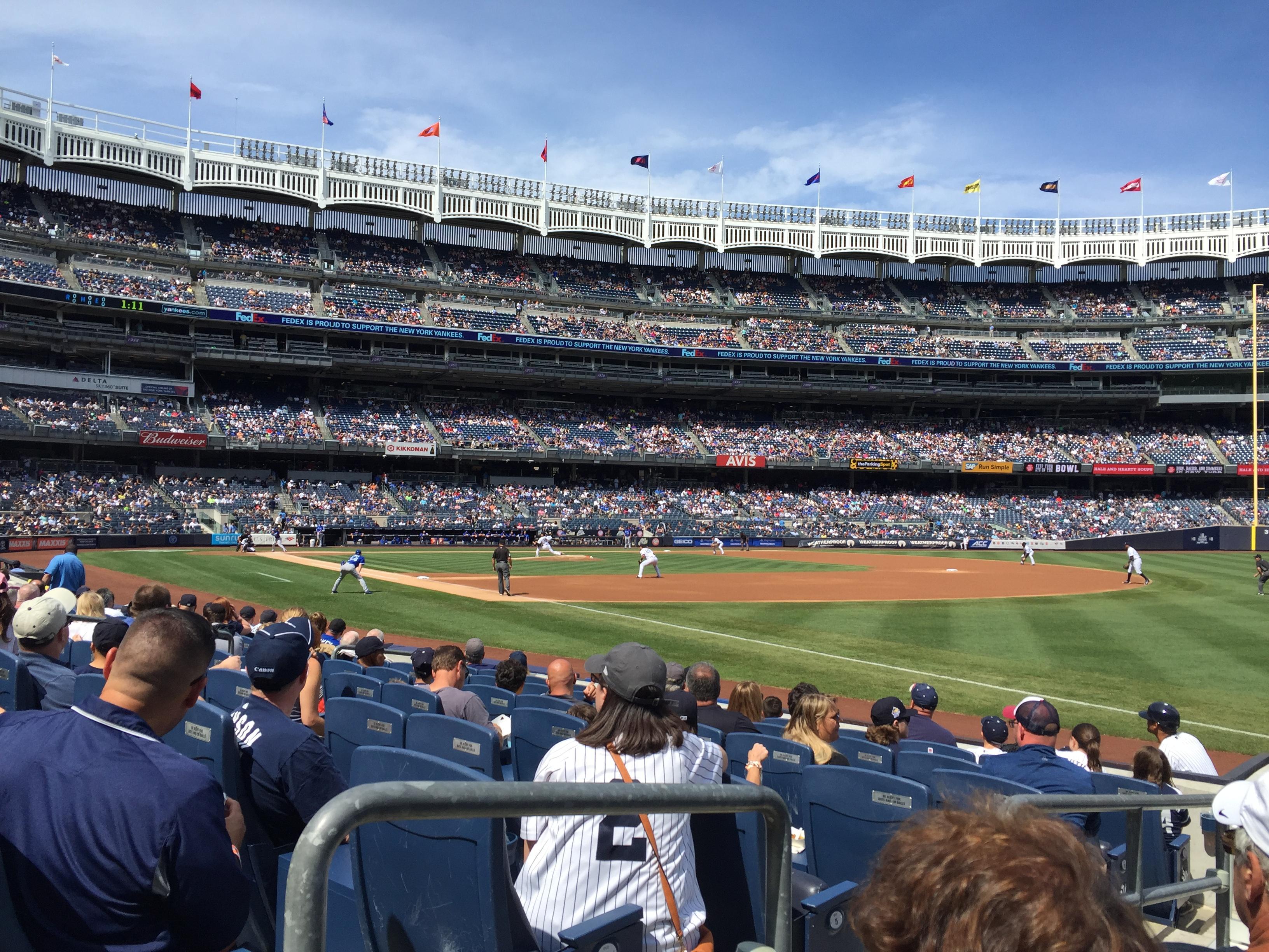 Yankee Stadium Section 011 Row 7 Seat 9