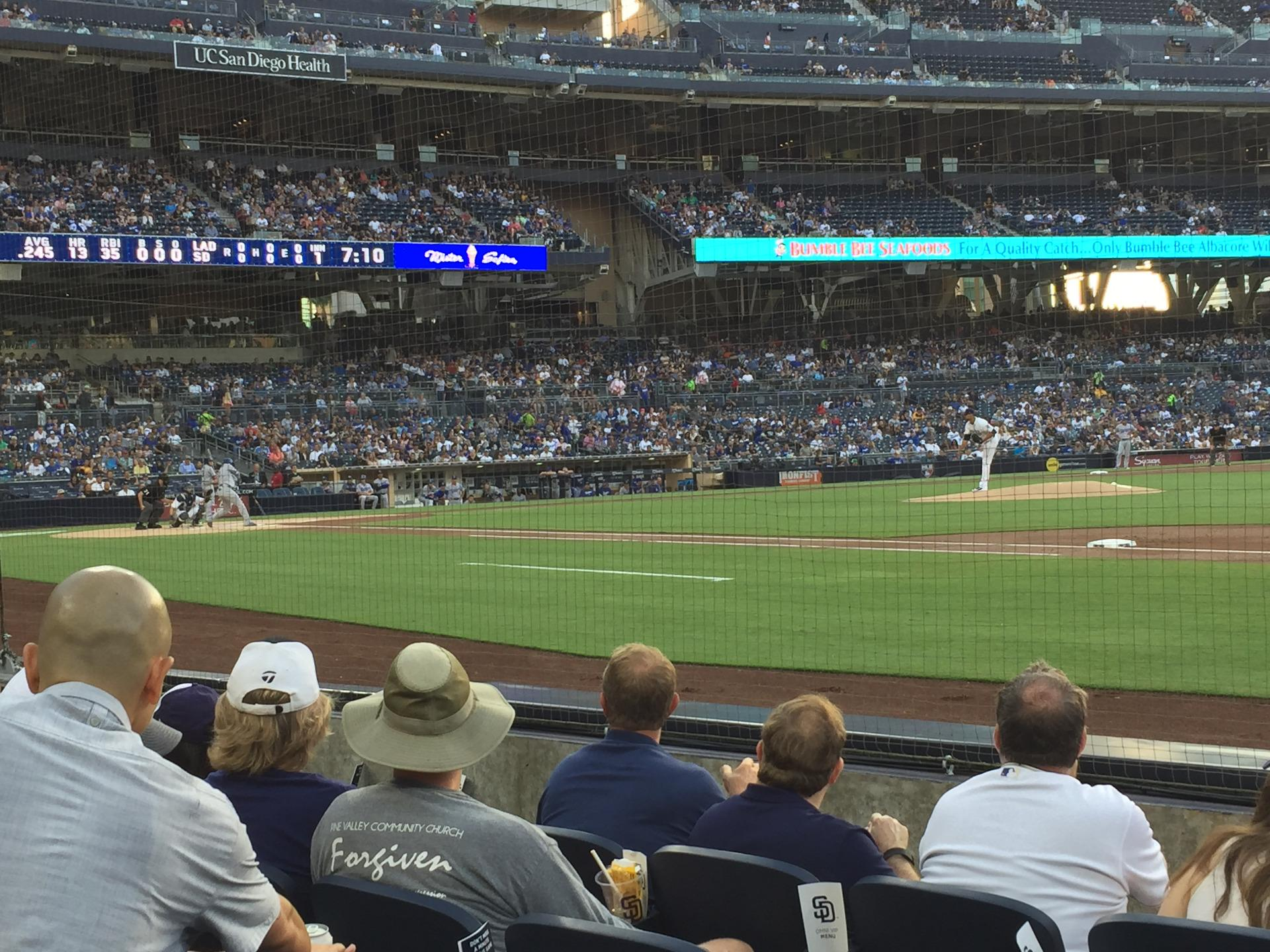 PETCO Park Section 113 Row 5 Seat 6