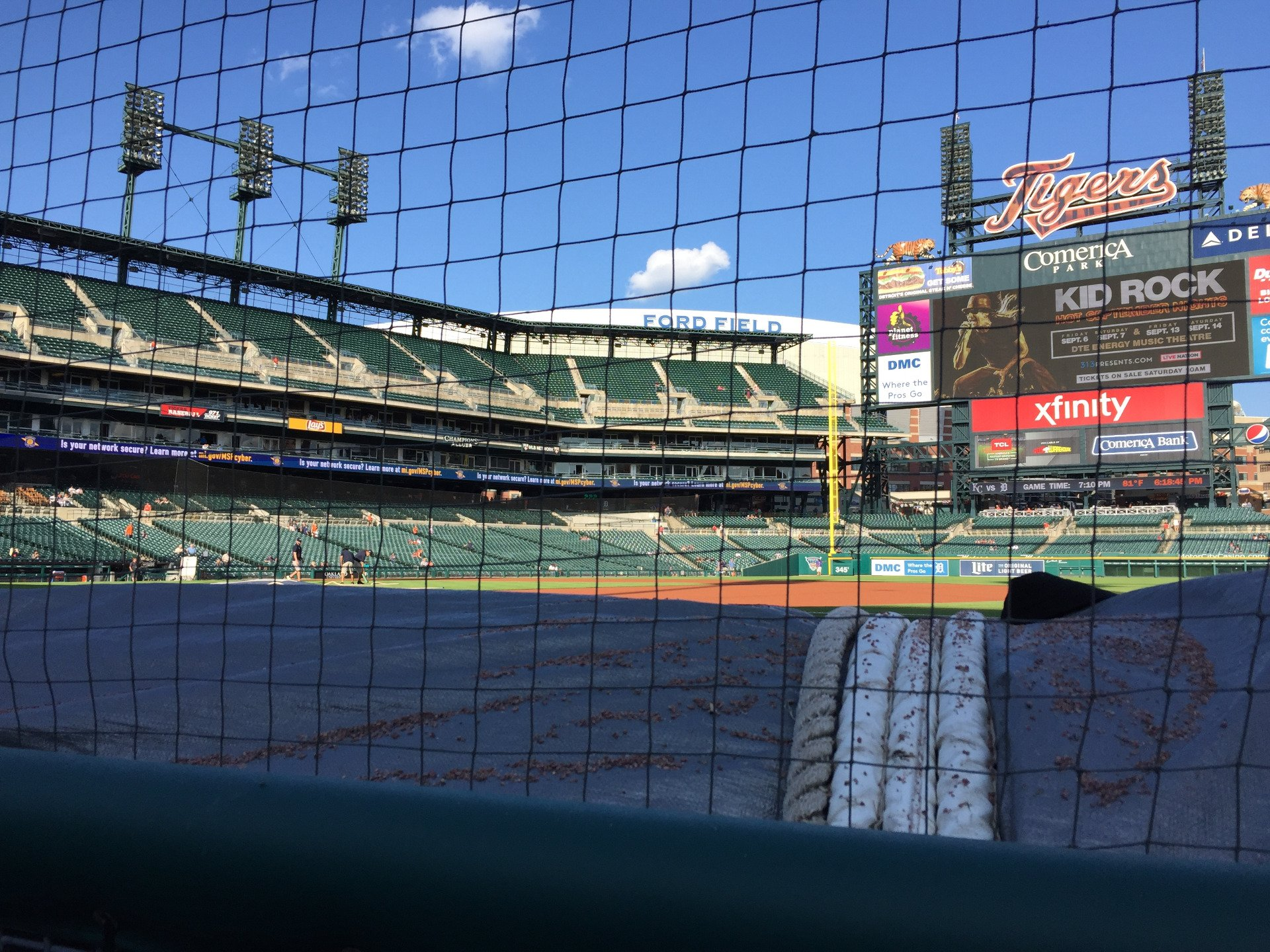 Comerica Park Section 118 Row 1 Seat 10