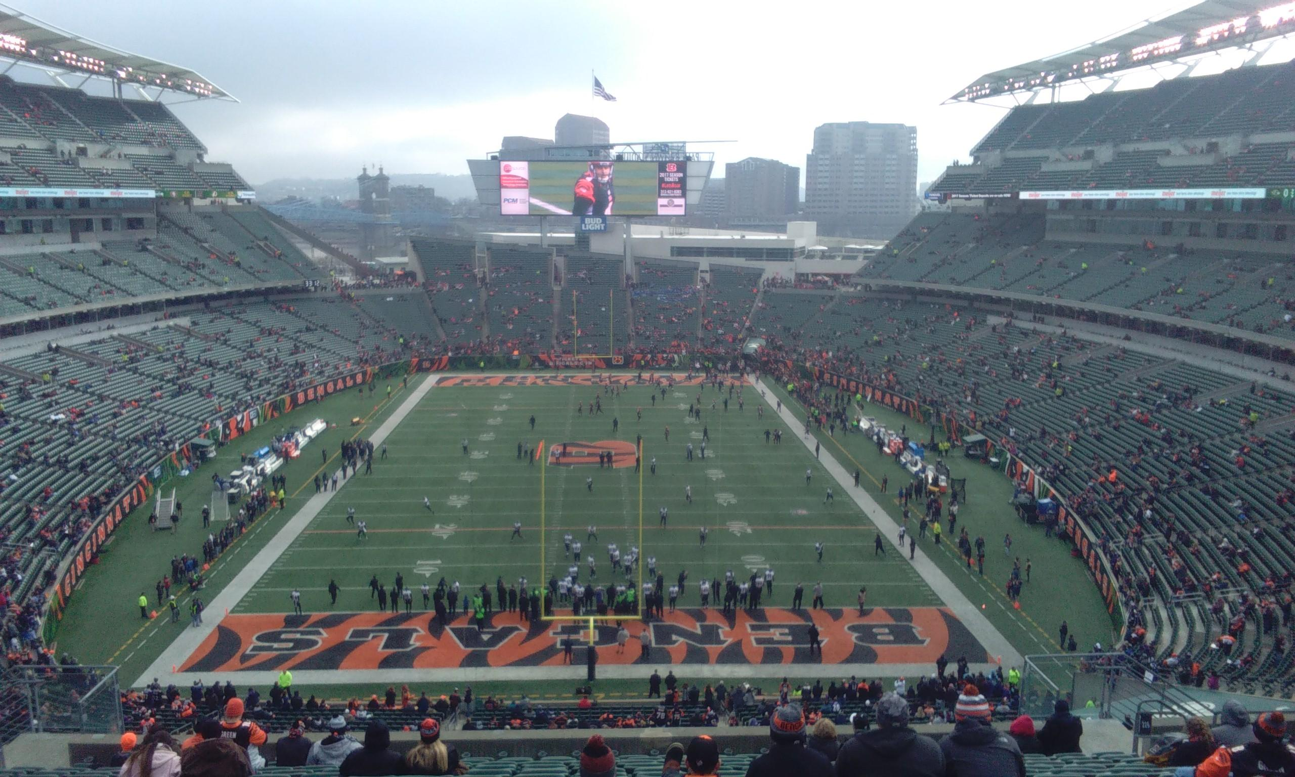 Paul Brown Stadium Section 226 Row 29 Seat 14