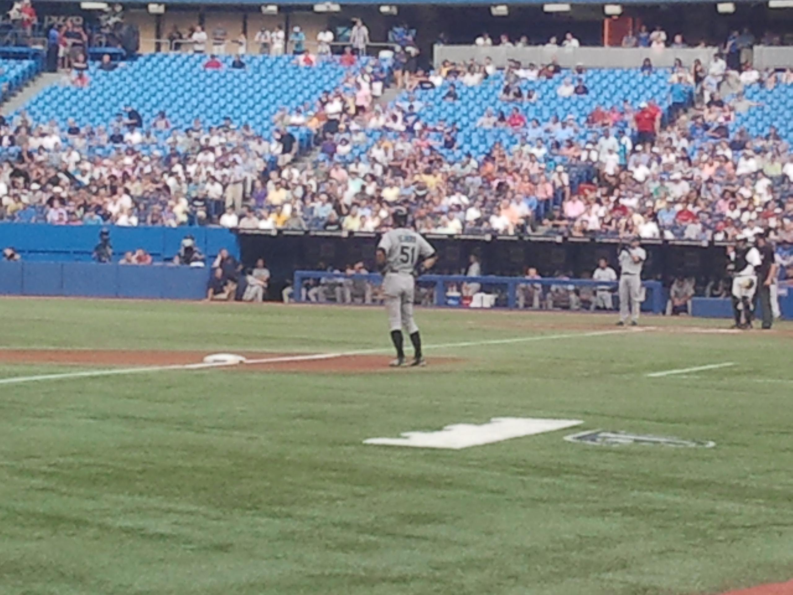 Rogers Centre Section 130BR Row 1 Seat 11