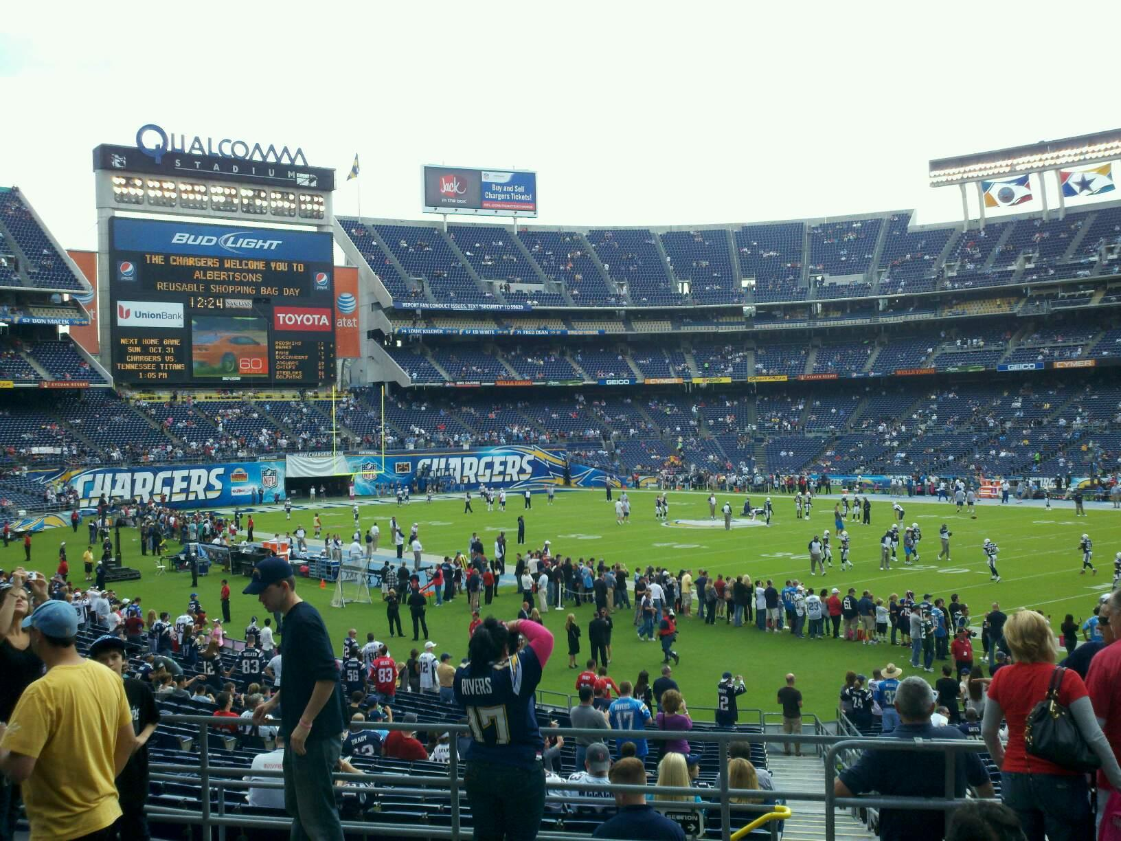 Qualcomm Stadium Section P13 Row 6 Seat 10