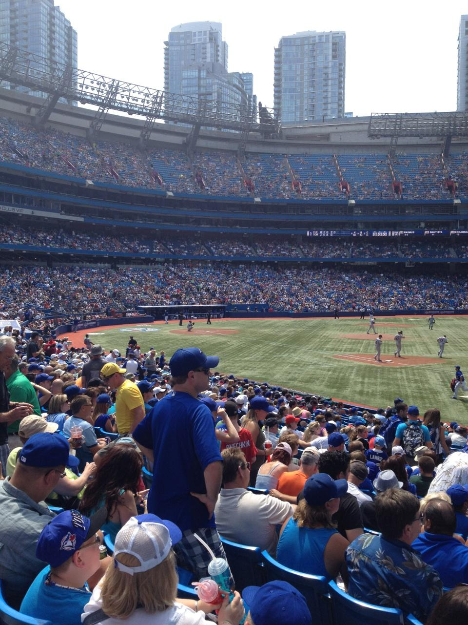 Rogers Centre Section 114R Row 23 Seat 10