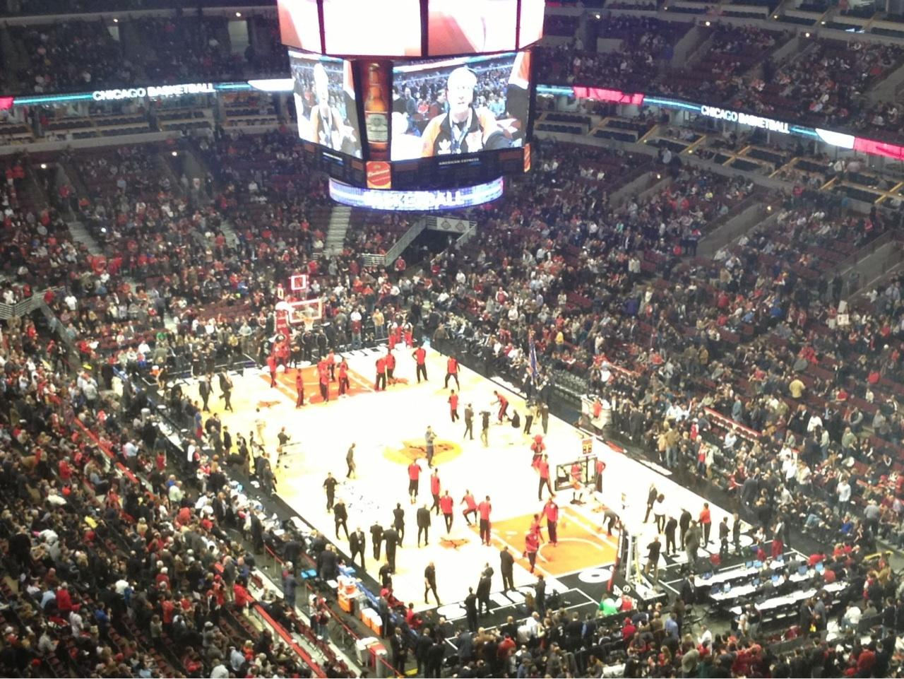United Center Section 330 Row 17 Seat 3