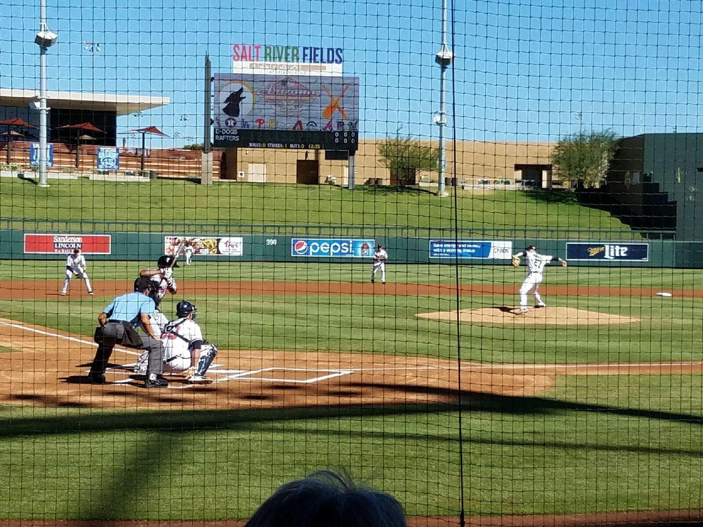 Salt River Fields Section 110 Row 7 Seat 3