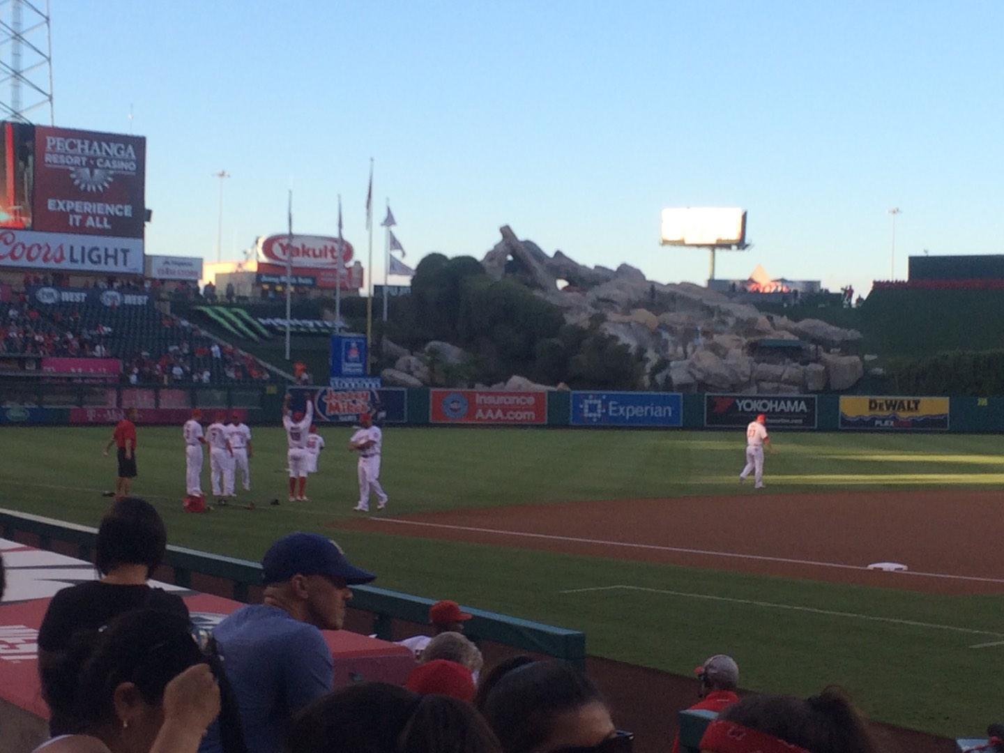 Angel Stadium Section F113 Row E Seat 5