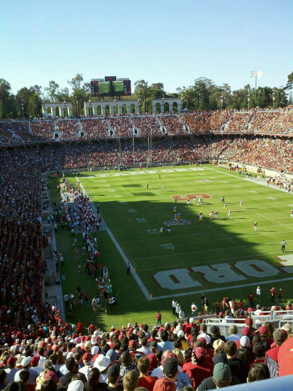 Stanford Stadium Section 206 Row V Seat 8
