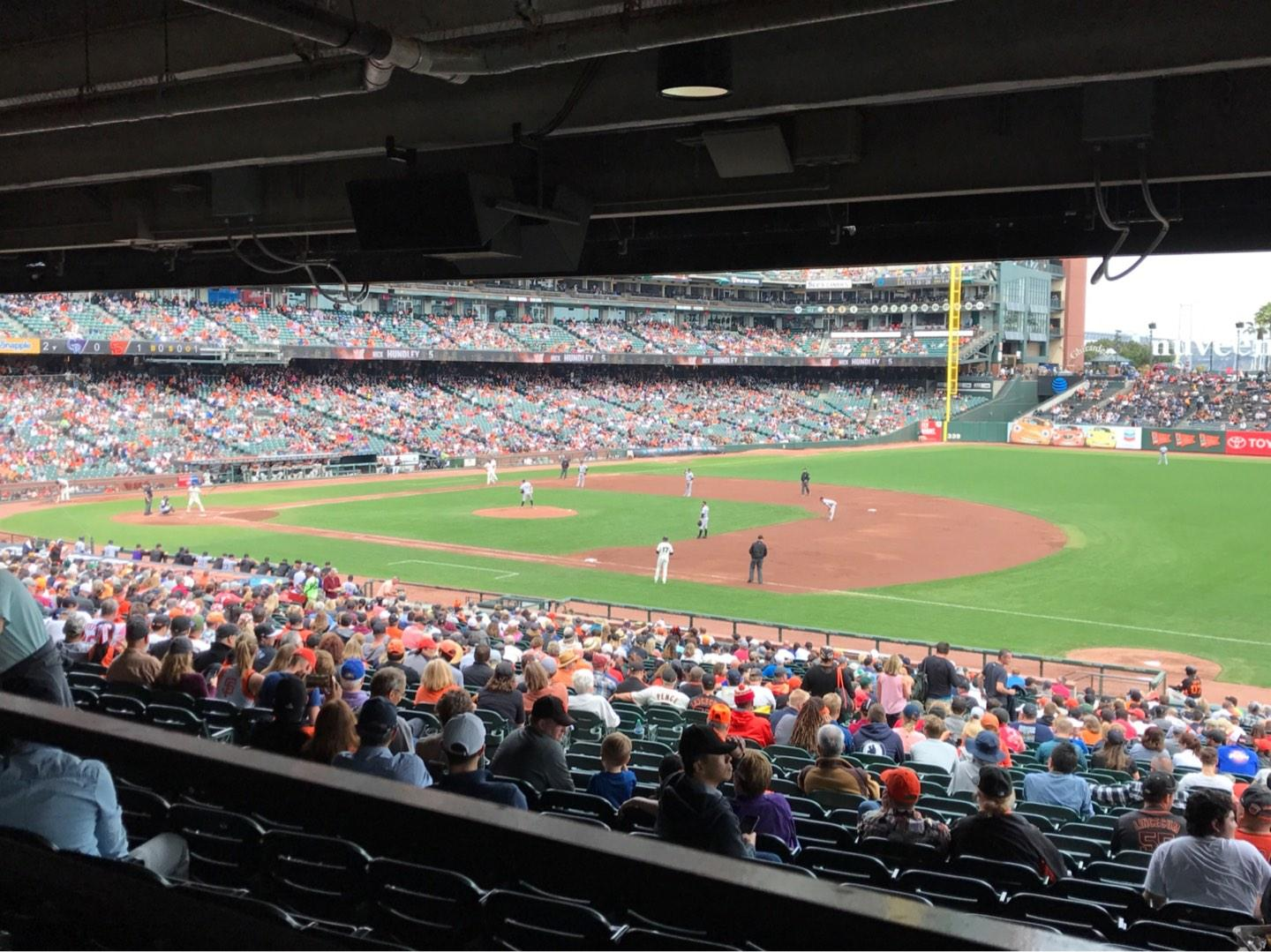 Oracle Park Section LB104 Row 39 Seat 103