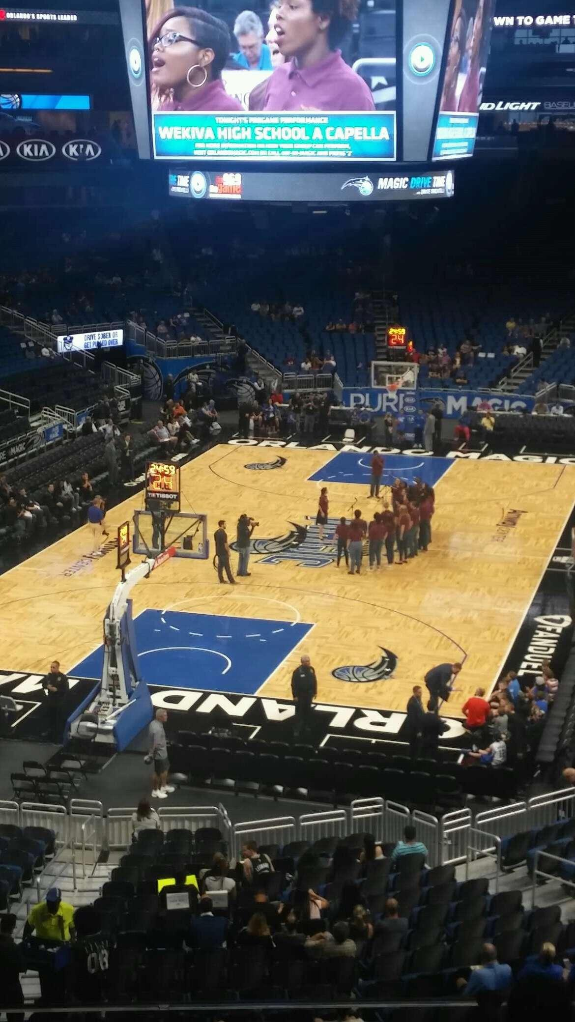 Amway Center Section 109A Row 27 Seat 25-26