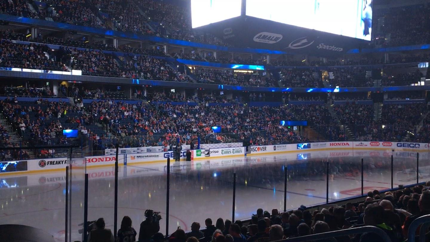 Amalie Arena Section 120 Row N Seat 6