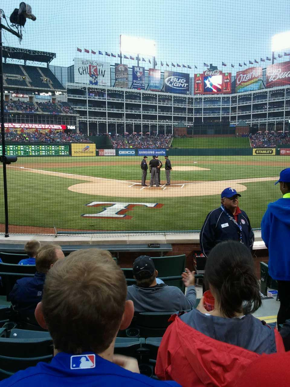 Globe Life Park in Arlington Section 25 Row 5 Seat 17