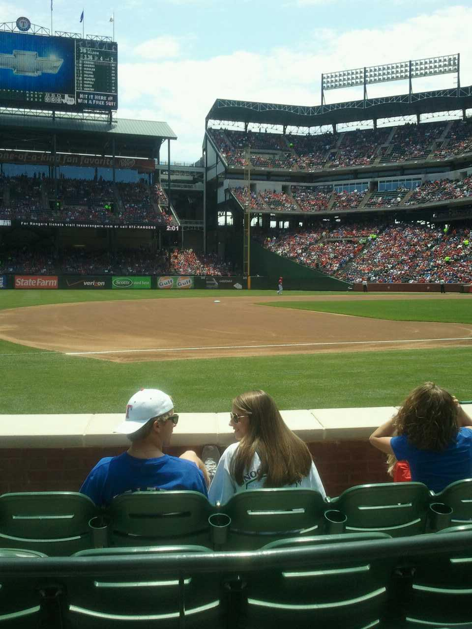 Globe Life Park in Arlington Section 17 Row 2 Seat 4