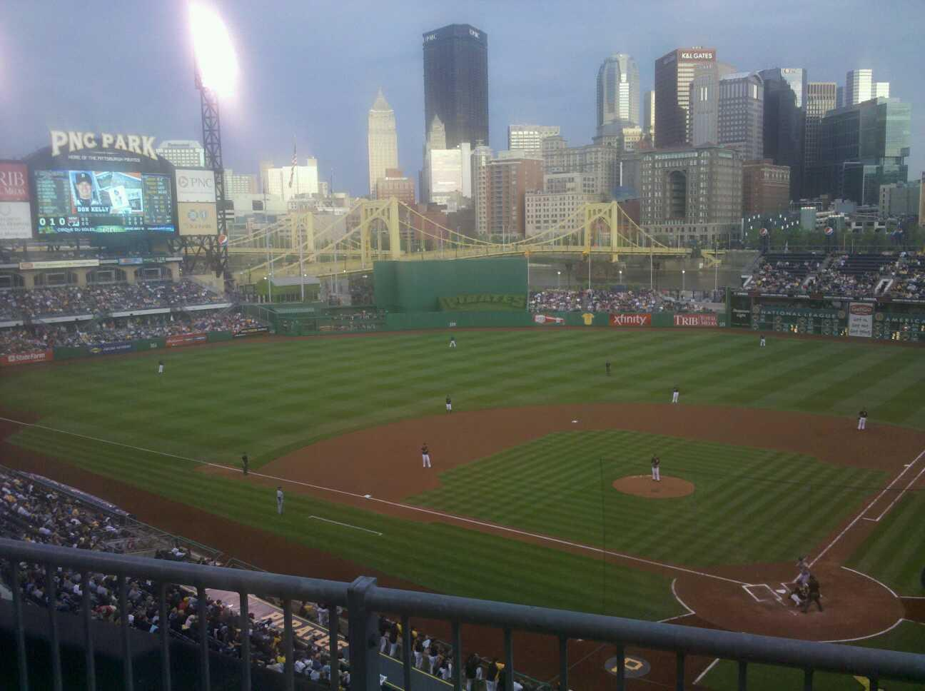 PNC Park Section 219 Row B Seat 7