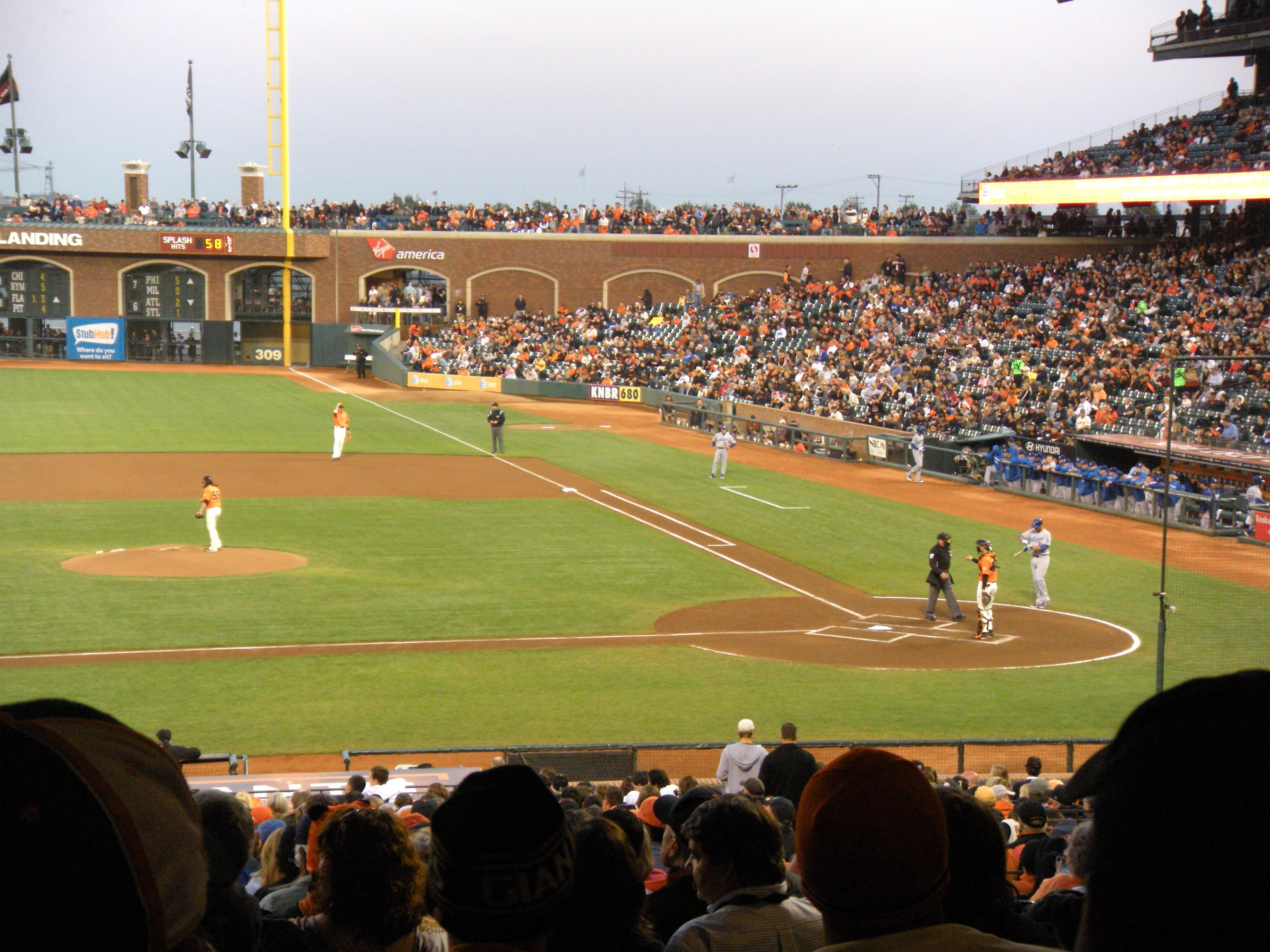AT&T Park Section 122 Row 39 Seat 17,18