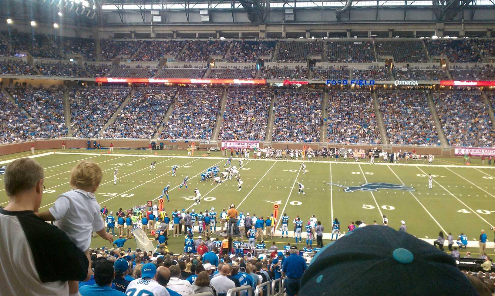 Ford Field Section 107 Row 21 Seat 1