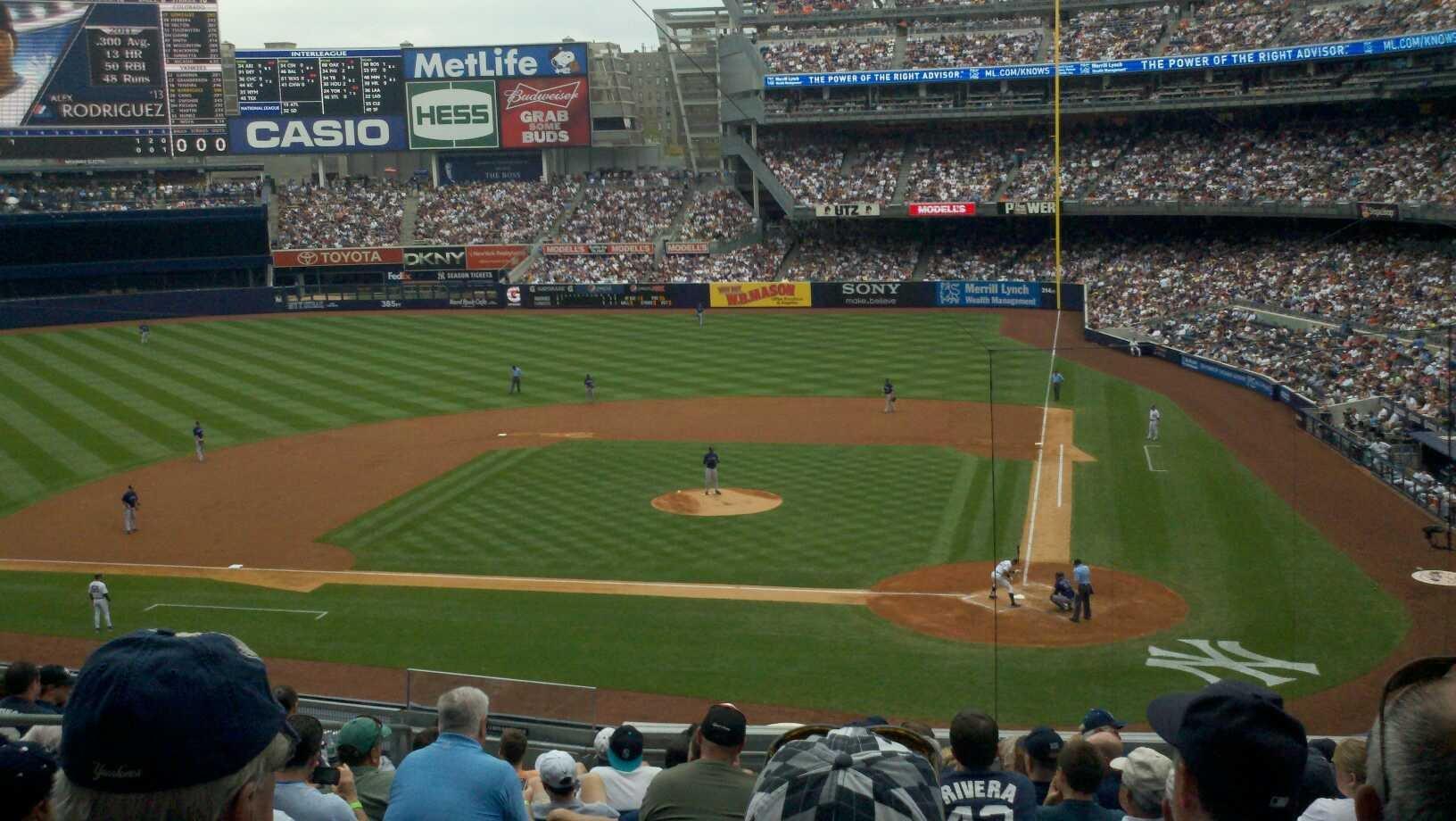 Yankee Stadium Section 222 Row 13 Seat 9